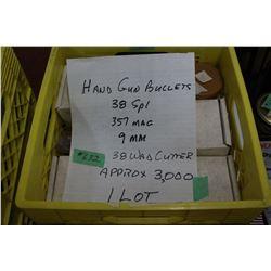 Handgun Bullets - Crate of Approx. 3000
