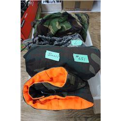 Camo Pants (2 prs) & Camo Coats (5)