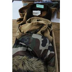 Camo Parka (1) & Cotton Coats (2)