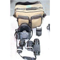 Canon Camera w/4 Lenses