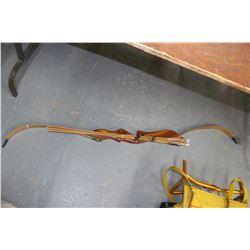 Bow (No String) & 4 Arrows