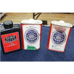 Gun Powder & Black Powder - 3 Tins (1 Partial)