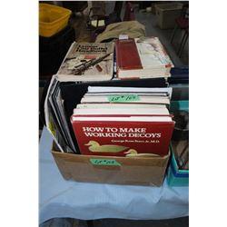 Box of Gun Related Books & Information