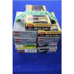 Rifled Slugs & Buck Shot Shells - 9 Boxes