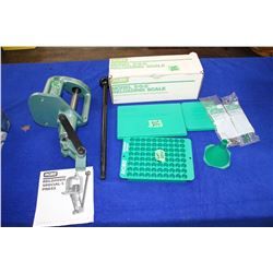 RCBS Reloader Special-5 Press; RCBS Model 5-0-5 Reloading Scale (Like New); RCBS Loading Block & Cas