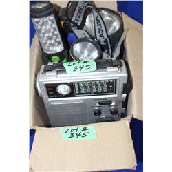 Box with Flashlights & Crank Radio