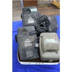 Box of Wildlife Cameras & Battery Box