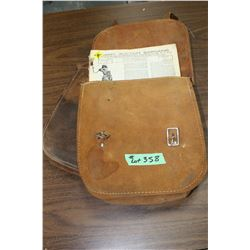 Leather Saddle Bag & an Old Army Auction Catalog