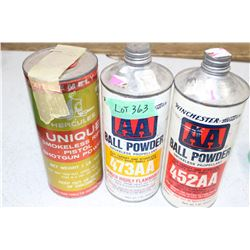 Shot Shell Powder - 3 Containers