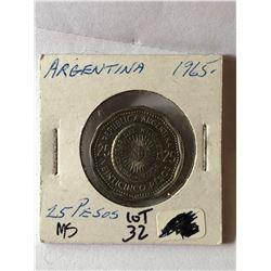 Beautiful 1965 ARGENTINA 25 Pesos MS High Grade