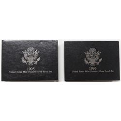 U.S. SILVER PREMIER PROOF SETS: 1995 AND 1996