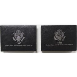 U.S. SILVER PREMIER PROOF SETS: 1997 AND 1998