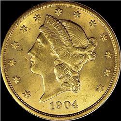 1904 $20.00 LIBERTY GOLD