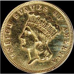 1874 $3.00 GOLD