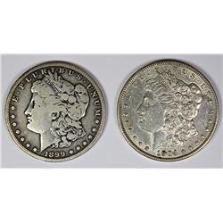 1904 AND 1899-S MORGAN SILVER DOLLARS
