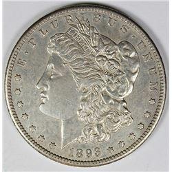 1893-S MORGAN DOLLAR BGC GRADED AU58!