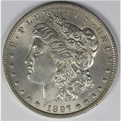 1897-O MORGAN DOLLAR BGC GRADED GEM BU!