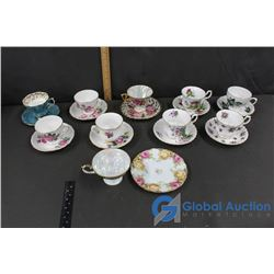 (10 Sets of) Tea Cups and Plates (made in England and Japan)