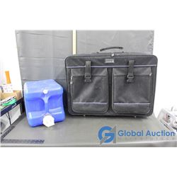 Reliance 6G Plastic Water Jug and Bently Suitcase