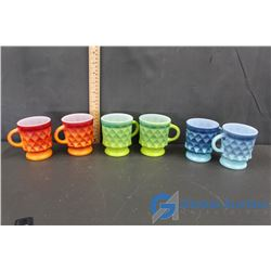 (6) Fire King Cups