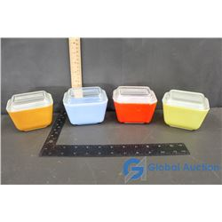 (4) Pyrex Dishes with Lids