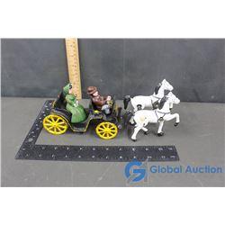 Vintage Cast Iron Horse & Buggy