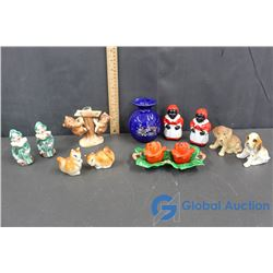 Variety of Salt & Pepper Shakers and Decor