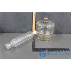 Glass Rolling Pin and Glass Oil Dispenser