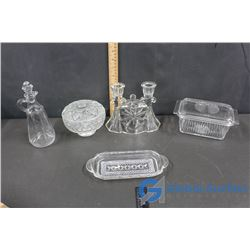 Clear Glass Dishes & Decor