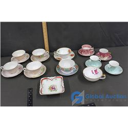 Variety of Tea Cups and Plates