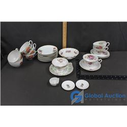Tea Cups & Saucers, Plates, and Miniature Dishes