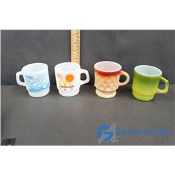 (4) Fire King Cups