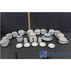 Stoneware Cups & Saucers