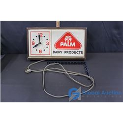 Palm Dairies Electric Clock - Uknown Working Condition