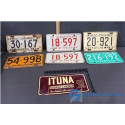 (6) Saskatchewan License Plates