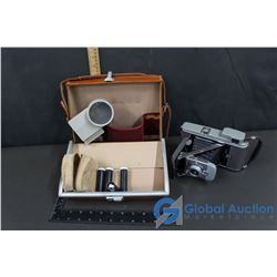 Polaroid Model 80 Camera & Leather Travel Case