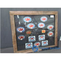 Framed Collection of CAA Decals