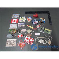 Assorted Fridge Magnets & Key Chains