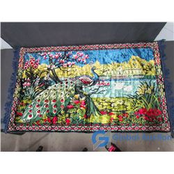 Peacock Tapestry Wall Hanging