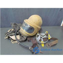 Vintage Miners Helmet w/Accessories