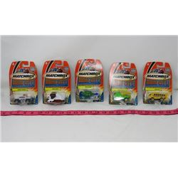 LOT OF 5 MATCHBOX CARS (HERO CITY) *CRASH HOPPER, BASS BUS, MUSH PUPPY, BUZZ COPTER & WHISTLE WAGON*