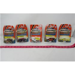 LOT OF 5 MATCHBOX CARS (HERO CITY) *SQUAD RUNNER, FIRE QUENCHER, HONDA ELEMENT, ETC*