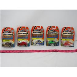LOT OF 5 MATCHBOX CARS (HERO CITY) *RUMBLE DOZER, AUTO SHUTTLE, CAP N' COP, SQUAD RUNNER & HOT HEAD*