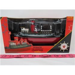 "ERTL COLLECTIBLE TEXACO ""THE AMERICAN"" TUGBOAT BANK"