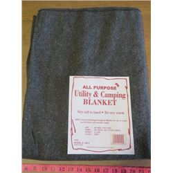 "ALL PURPOSE BLANKET (60"" X 80"") *65% WOOL, 35% OTHER FIBRES*"