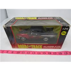 DIE CAST TOY VEHICLE (1957 CHEV BEL AIR (1:24) *ROAD AND TRACK HOT RODDING ACTION* (NEVER OUT OF BOX
