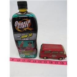 TOY LOT ( NASCAR QUAKER STATE OIL-SEALED-JEFF GORDON, TONKA FIRE CHIEF-METAL-1955)