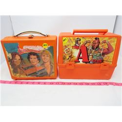 LOT OF 2 PLASTIC LUNCH BOXES (A-TEAM, DUKES OF HAZZARD)