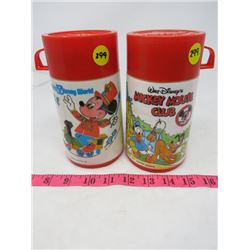 LOT OF 2 THERMOS'S (WALT DISNEY AND MICKEY MOUSE CLUBHOUSE)
