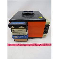 LOT OF 8 TRACKS WITH HOLDER